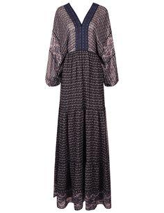 ULLA JOHNSON Midnight Silk Printed Madhi Dress. #ullajohnson #cloth #dress