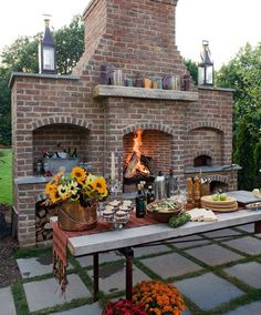 Backyard Pizza Ovens - But in this case, I want this to be my next indoor fireplace / oven contraption thingy. gorgeous.: