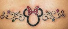 i want the minnie mouse outline behind one of my ears