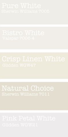 Fresh: Favorite White Paint Colors