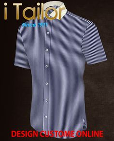 Design Custom Shirt 3D $19.95 chemise noir homme Click http://itailor.fr/shirt-product/chemise-noir-homme_it517-1.html