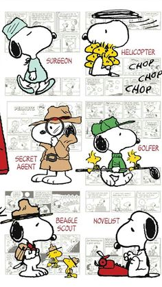 The many professions of snoopy