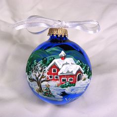 Red Barn ornament by AudreyBDesigns on Etsy