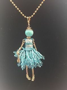 Details about Charming French Crystal Doll Pendant Tassel Charm Statement Necklace - DIY Jewelry Vintage Ideen Wire Jewelry, Jewelry Crafts, Beaded Jewelry, Jewelery, Handmade Jewelry, Jewelry Necklaces, Necklace Ideas, Chain Bracelets, Necklace Tutorial