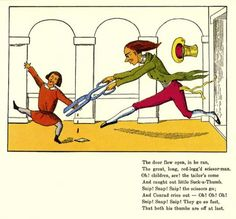 The Scissor-man, from The English Struwwelpeter, or Pretty stories and funny…