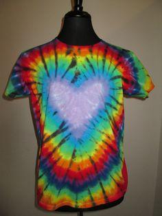 Ladies Large Tie Dye Heart Lavender by AlbanyTieDye on Etsy, $20.00