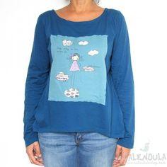 camiseta niña en las nubes azul - Calendula