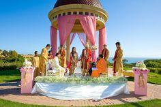 Indian outdoor wedding ceremony