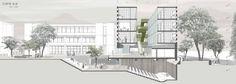 Cinema Architecture, Architecture Panel, Architecture Graphics, Architecture Visualization, Architecture Portfolio, Concept Architecture, School Architecture, Architecture Details, Drawing Architecture