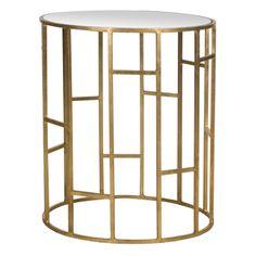 Mesa auxiliar Doreen de Tonos dorados, dorado/sobre de espejo | ACHICA