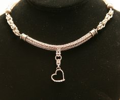 viking knit  | Sterling Silver Viking Knit Chainmaille neckalce by *ArmouredWolf907 ...