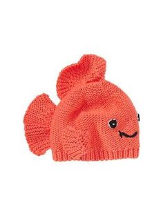 this is too cute...Goldfish hat by Gap