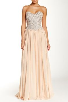 Sweetheart Jeweled Bodice Gown