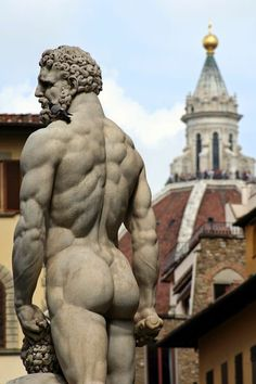 Statue of Hercules, Florence, Italy. Erotic Art, Monuments, Sculpting, Hercules Statue, Sculpture Art, Garden Sculpture, Socrates, Cleopatra, Art Of Man