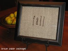 burlap crafts for weddings | framed burlap quotes} - Simply Kierste