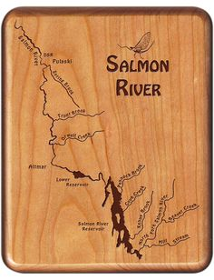 Custom Engraved Fly Fishing Box ~ Salmon River, NY