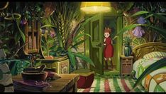 1536x2048px | free download | HD wallpaper: anime, arrietty, beds, doors, flowers, interior, karigurashi