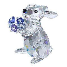 LOVE. Rabbit with Forget-me-not from #Swarovski