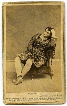 Felicita Vestvali The Carte De Visite Was A Photograph Mounted To Card Stock