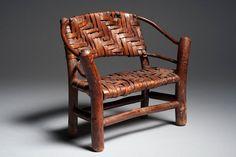 Antique Salesman's Sample Old Hickory Rustic Settle
