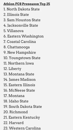 Athlon's Preseason Poll.