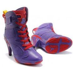 Air Jordan 6 High Heel Purple Red