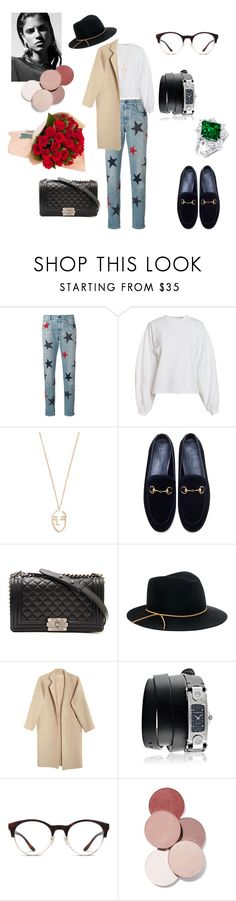 """""""Untitled #442"""" by gloriatovizi on Polyvore featuring STELLA McCARTNEY, NLY Trend, Amber Sceats, Gucci, Chanel, Eugenia Kim, Mara Hoffman, Givenchy, Muse and LunatiCK Cosmetic Labs"""