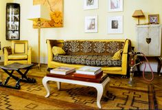 African-inspired home fashion ethniciti Page 2 african inspired home decor - Home Inspiration African Interior, African Home Decor, Home Design, Interior Design, Elegant Home Decor, Elegant Homes, Style At Home, Yellow Leather Sofas, My Living Room