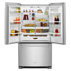 KitchenAid® 20 cu.ft. 36-Inch Width Counter-Depth French Door Refrigerator with…