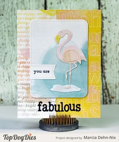 You Are Fabulous - Scrapbook.com - Fun handmade card featuring watercolored background.