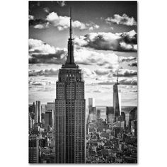 Trademark Fine Art New York Skyscrapers Canvas Art by Philippe Hugonnard, Size: 16 x 24, White