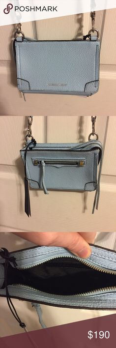 Rebecca Minkoff Regan Phone Crossbody New with tags. Description is in the pictures. The color of the purse is powder blue. Rebecca Minkoff Bags Crossbody Bags