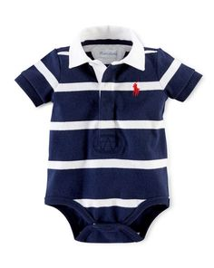 Cotton Rugby Bodysuit - Baby Boy One-Pieces - RalphLauren.com