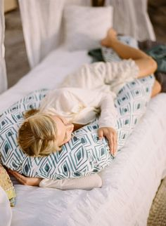 Blue Diamond Pregnancy Pillow - Get a better night's rest with this pregnancy pillow that will make resting the bump easier and take the strain off of your back and neck.