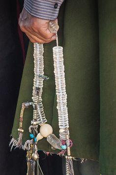 Tibet. Prayer beads.