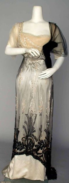 House of Paquin,  evening gown, Paris, winter 1911