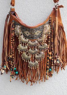Boho fringe bag, gypsy purse, hippie bag, handmade boho handbag, vegan bag, tassel handbag, fall boho purse, suede hobo bag, fall purse