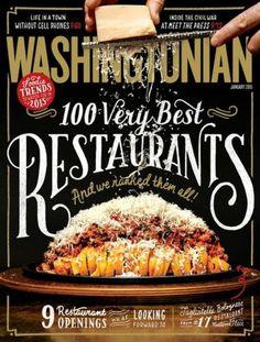 Washingtonian Magazine Cover - looks delicious!