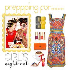 """Prepping for ......"" by conch-lady ❤ liked on Polyvore featuring Dolce&Gabbana, Drybar and girlsnightout"
