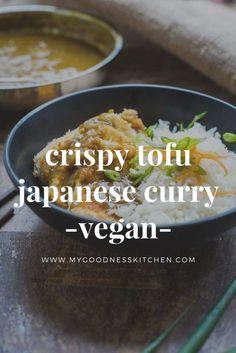 crispy tofu japanese curry - vegan- My Goodness Kitchen