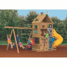 Explore more with the PlayStar® Legacy Gold Playset. Sturdy and safe, this playset also brings fun to your backyard with its 18 different play activities!