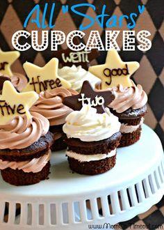 "All ""Stars"" Chocolate Cupcakes"