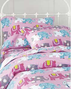 Shop for patterned sheets at Garnet Hill in dots, stripes and prints. Patterned sheets and printed sheets in percale, jersey and flannel in original designs. Elephant Bedding, Elephant Room, Cute Bedding, Girl Bedding, Bedding Sets Online, Patterned Sheets, Big Girl Rooms, New Beds, Girls Bedroom