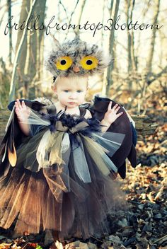 Owl Tutu Dress Costume Set ... Great for Halloween Dress Up Themed Parties. $80.00, via Etsy.