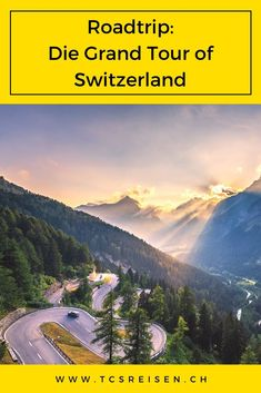 Machen Sie in der Schweiz eine Autoreise auf der Grand Tour of Switzerland. Eine Schleife von 1'643km in 9 Etappen. Ein Rundgang, der den Reisenden in alle Schweizer Landschaften vom Jura bis zu den Bündner Alpen eintauchen lässt. Sie werden die 12 von der UNESCO klassifizierten Stätten sowie mehrere Naturparks besuchen. #tcsreisen #reiseblog #schweiz #grandtourofswitzerland #roadtrip Grand Tour, Road Trip Suisse, Switzerland Tour, Destinations, Blog Voyage, Roadtrip, Unesco, Mountains, Ainsi