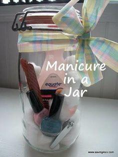 gift in a jar -  manicure in a jar