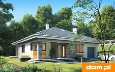 DOM.PL™ - Projekt domu AN BLANKA CE - DOM AO10-64 - gotowy koszt budowy Bungalow Exterior, Bungalow House Plans, Modern Bungalow, Compact House, Home Fashion, Gazebo, Outdoor Structures, House Design, How To Plan