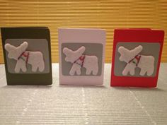 Mini Christmas card choose your color by BoutousCreations on Etsy, $1.00