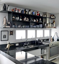 I need to figure out how to do something similar to this in my kitchen.  Maybe shelves over the window.
