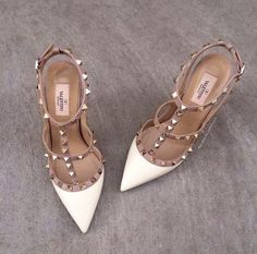 urgggggg I want these valentino 'rockstud' t-strap pump